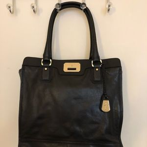 Cole Haan Black Leather North South Tote GHD